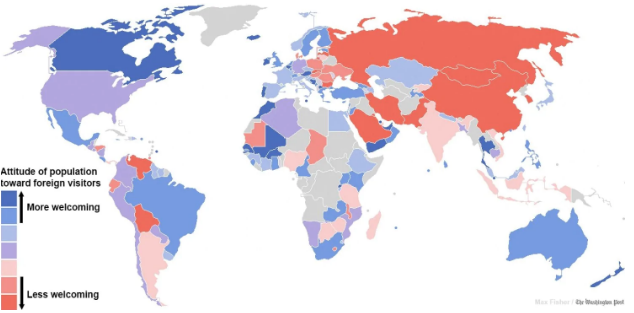 Map: Attitude to Foreigners