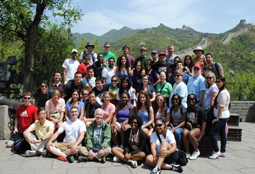 China group at Great Wall